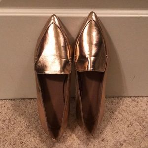 ASOS metallic pink shoes